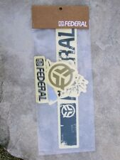 Original old school Federal sticker pack/decals