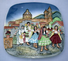 Royal Doulton Beswick '73 Christmas in Mexico square collector plate Ltd Ed 3D