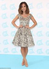 Myleene Klass Metallic Animal Print Jacquard Bardot Skater Dress Size 12