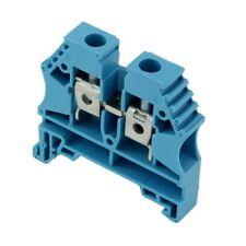 3pcs  Morsetto guida DIN livello 1 azzurro morsetto a vite Larg 8mm