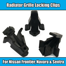 8x Clips For Nissan Frontier Radiator Grille Locks Navara Sentra Black Plastic