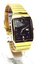 New Citizen Man Analog, Date, Japan Movement  Rectangle dial Dress Watch