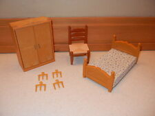 CALICO CRITTERS Epoch Set of 2 Bedroom Furniture - bed, armoire, chair