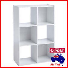 White 6 Ladder Cube Shelf Bookcase Storage Unit  Display Book 911mmx613mmx295 mm