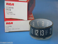 RCA 113596 & 113575 TV UHF Dial Drum & Tape Assembly for Many Mid 1960's TV Sets