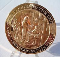 1922 Five Power NAVAL TREATY Franklin Mint SOLID BRONZE Medal Uncirculated