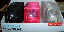 Wallet Magnifier with LED Light, Pen, Pencil, Ruler, Stylus, 2X Magnifies
