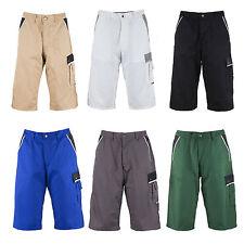 Normale unifarbene Herren-Cargo-Shorts aus Baumwollmischung