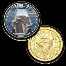 U.S. United States Navy | USS Ronald Reagan CVN-76 | Gold Plated Challenge Coin