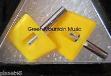 N.O.S SEEBURG YELLOW JUKEBOX NEEDLES 345-03D ONE PAIR!! SEALED!!