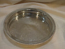 "Vintage Rogers Pattern 4370G Silverplated Reticulated 9 1/2"" Gallery Tray"