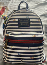 More details for og ❤️ logo nemo and friends striped loungefly mini backpack euc - see photos