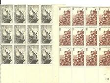 YVERT N°764 + 763 x12 POINTE DU RAZ ET ROC-AMADOUR FRANCE NEUFS sans charnières