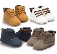 enfant bébé garçons chaussures semelle souple CRIB baskets taille 0-18 mois