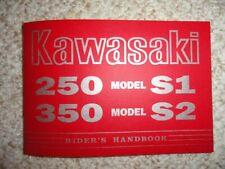 1973 Kawasaki 250 S1A 350 S2A Rider's Handbook Owner's Manual Mach I Mach Ii