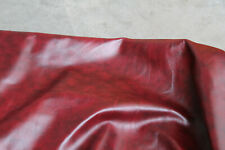 Calidad TOP de cuero suave Cuero rojo intenso oculta Cuero esconde 100/% UK Made