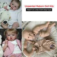 Unpainted Reborn Kits Vinyl Head&Full Limbs &Cloth Body&Eyes DIY 22'' Baby Doll