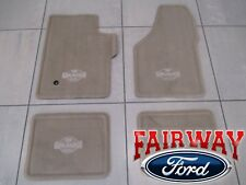 08 thru 10 F250 F350 OEM Ford Carpeted Floor Mat Set Camel 4pc King Ranch w Logo