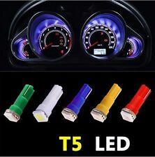 100pcs Color T5 70 Wedge 1-SMD LED Gauge Cluster Lights Instrument Panel Bulbs