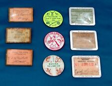 Group of Vintage Hunt/Fish Licenses and Pinbacks (9)