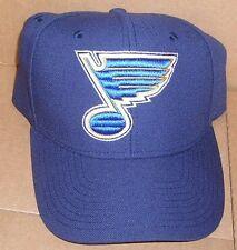 NEW NHL St Louis Blues Hat Cap Adjustable Men Structured Brim BIG LOGO Reebok NS