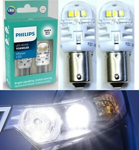 Philips Ultinon LED Light 1156 White 6000K Two Bulbs Rear Turn Signal OE Fit