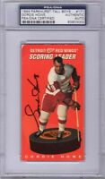 GORDIE HOWE SIGNED AUTOGRAPHED 1994 PARKHURST TALL BOY #171 RED WINGS PSA/DNA