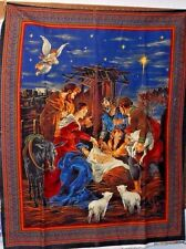 "1 Cranston ""Away in a Manger"" Christmas  fabric panel"
