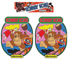 Donkey Kong Nintendo Arcade Cabinet Graphics Side Art and Marquee