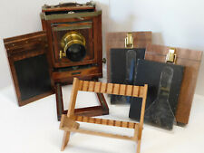 Wet Plate Collodion Korona 4x5 Large Format Camera Outfit w/ Brass Darlot Lens