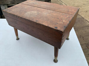 Solid wood stool with 1960's legs lot CE190221B