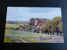 ARQ054 - EDBURTON CHURCH, Sussex - A R Quinton #2037 POSTCARD