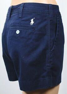 Polo Ralph Lauren Navy Blue Shorts White Pony Logo NWT $90