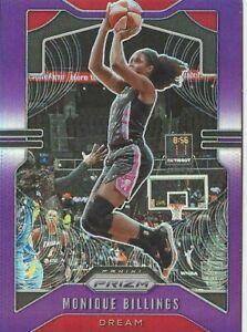 2020 WNBA PANINI PRIZM MONIQUE BILLINGS PURPLE PRIZM PARALLEL CARD 99/125 DREAM