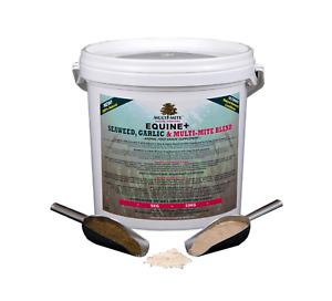 MULTI MITE Diatomaceous Earth DE Seaweed & Garlic 5KG Bucket WORMER-CONDITIONER