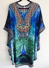 Silk Blend Embellished Kaftan