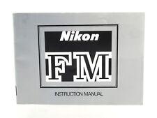 Instruction Manual: Nikon FM - (34972)