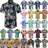 UK MENS HAWAIIAN SHIRT STAG BEACH HAWAII ALOHA PARTY SUMMER HOLIDAY FANCY Tee