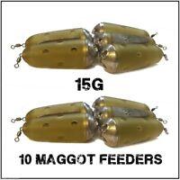 Maggot Feeders 10 Feeder Bomb 15g maggot Feeders coarse fishing feeders