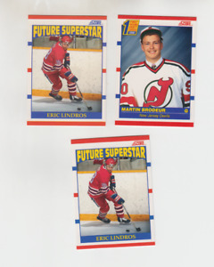 Lot 3 cards rc Score 1990-91 BRODEUR+LINDROS BV$$ HOT!!