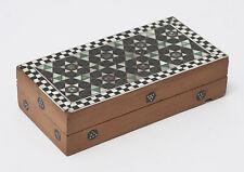 Antico Indiano sadeli Ware Mosaico Scrivania rettangolare di piccole dimensioni/Scatola TIMBRO