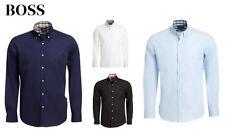 Normale unifarbene klassische HUGO BOSS Herrenhemden aus Baumwolle