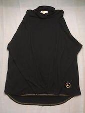 Chemise Lacoste Long Sleeve Mock Turtleneck Black and gold Shirt, Medium, RARE