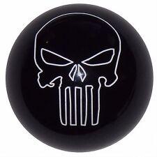 Black Punisher Skull manual shift knob Fits Mustang Cobra M12x1.75 thrd