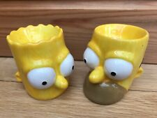 Homer & Bart Simpson Egg Head Cups Matt Groening Collection Simpsons Novelty