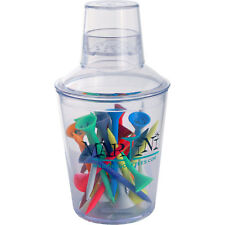 """Martini Tee Small Shaker 24-Pack of Assorted Colors 3-1/4"""" Durable Plastic Tees"""