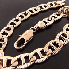 Solid Unisex Antique Style Bracelet Bangle A367 Genuine Real 18K Rose G/F Gold
