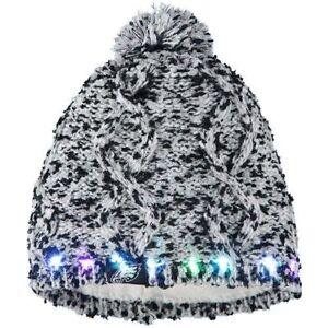 Philadelphia Eagles Chunky Knit Light Up Beanie Winter Hat Toque Pom Women's