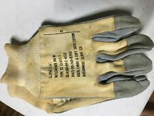 80's US Military Issued Cloth on Leather Palm Work Gloves NOS