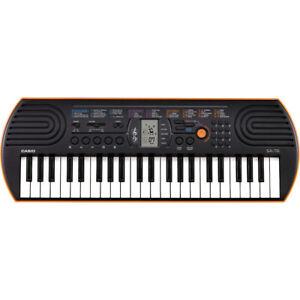 Casio SA-76 44-Key Mini Keyboard  with 100 Tones, 50 Rhythms & Built-in Speakers